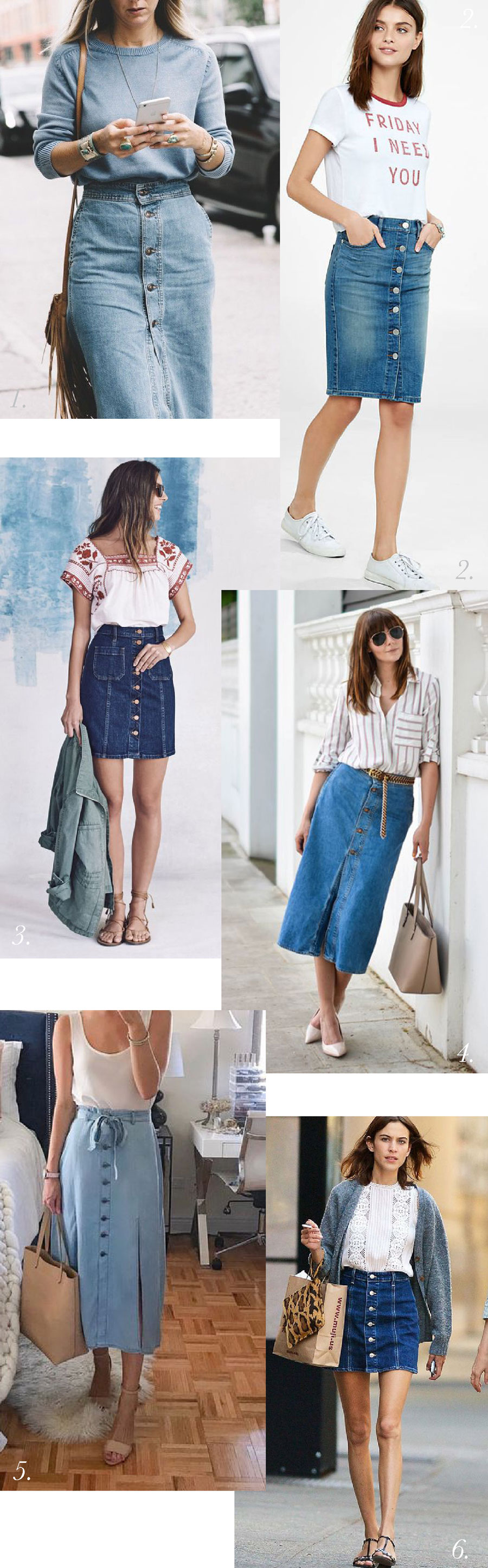Denim skirt outfit styling // Fiona Sundress pattern by Closet Case Patterns