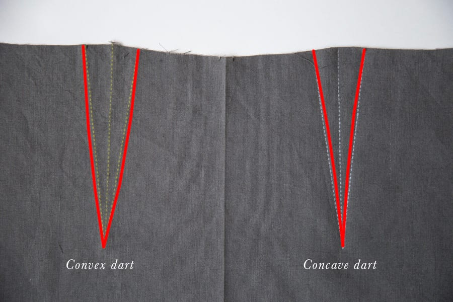 Convex and concave darts - sewing curved darts for shaping // Closet Case Patterns
