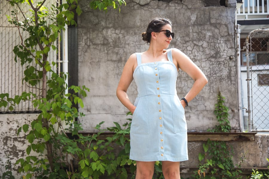 Fiona Sundress in blue denim // Handmade by Closet Case Patterns