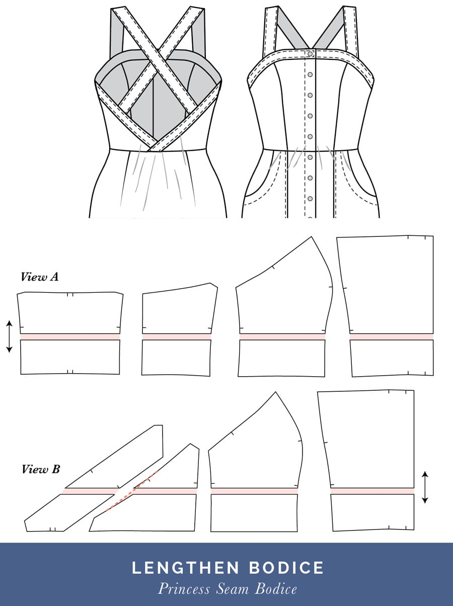 How to lengthen bodice // Fitting a Princess Seam Dress // Closet Case Patterns
