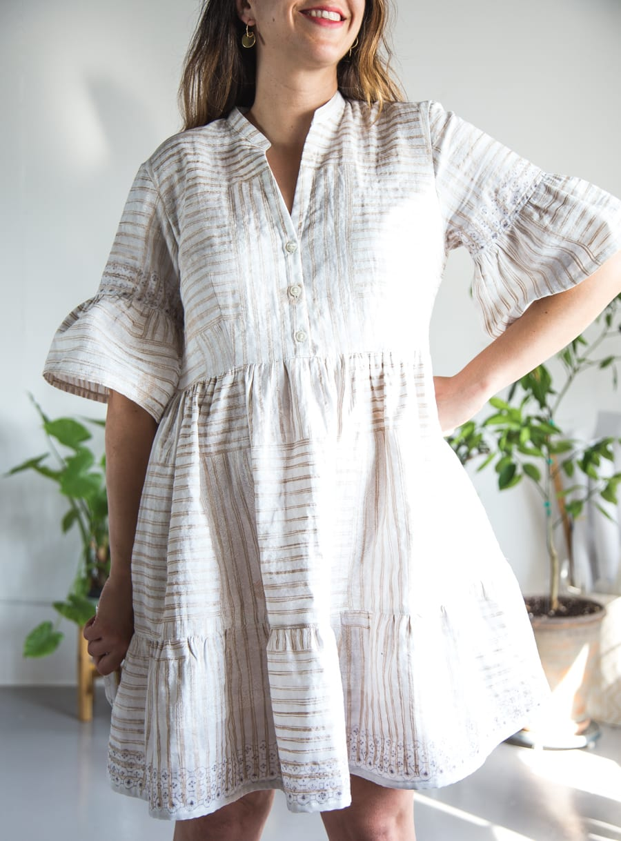 Myosotis dress in Nani Iro double gauze // handmade by Closet Case Patterns