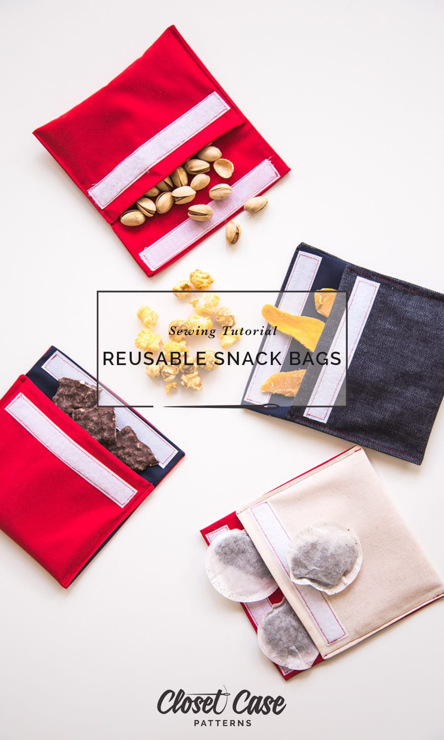 Easy Tutorial: Make Your Own Reusable Snack Bags | Closet Case Patterns
