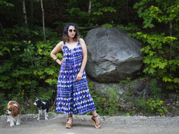 Amy Jumpsuit Pattern in rayon challis // Handmade by Closet Case Patterns