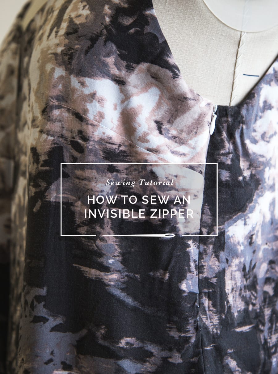 How to sew an invisible zipper / Sewing Tutorial / Closet Case Patterns