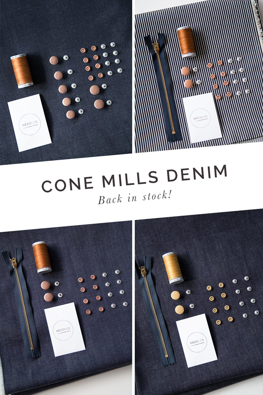 Cone Mills Denim back in stock! // Closet Case Patterns