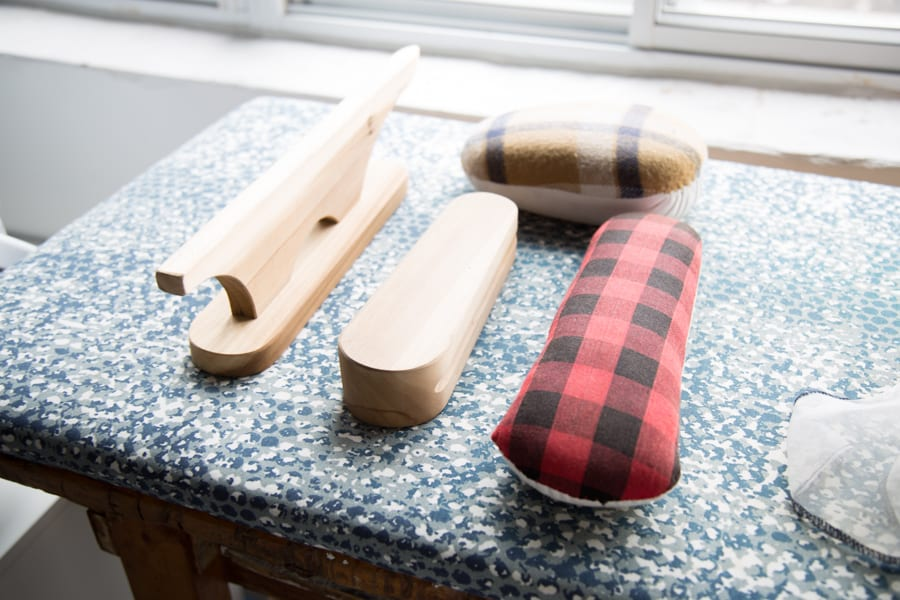 Pressing tools for sewing - tailors ham and clapper // Our Pressing station at Closet Case Patterns