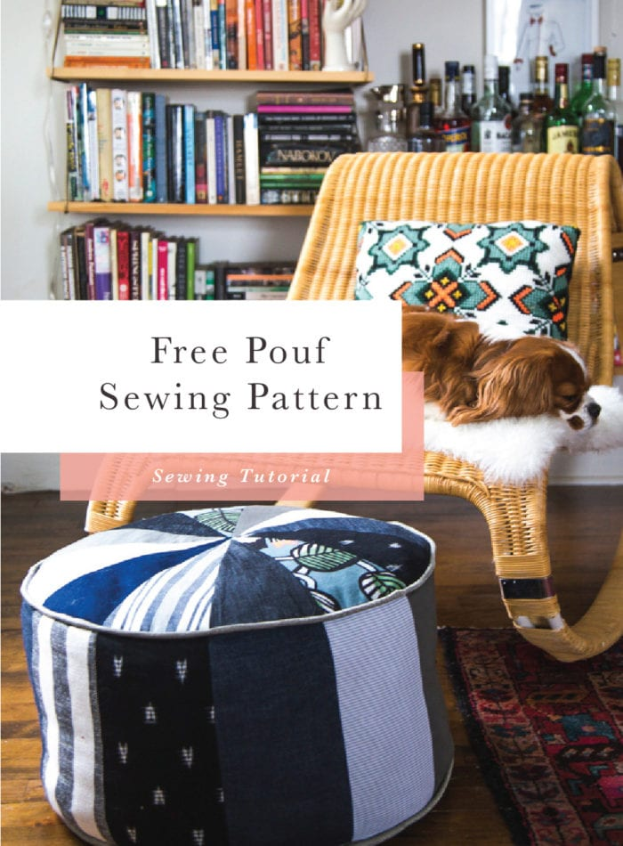 Free Sewing Pattern // Scrap Busting Pouf Pattern // Closet Case Patterns