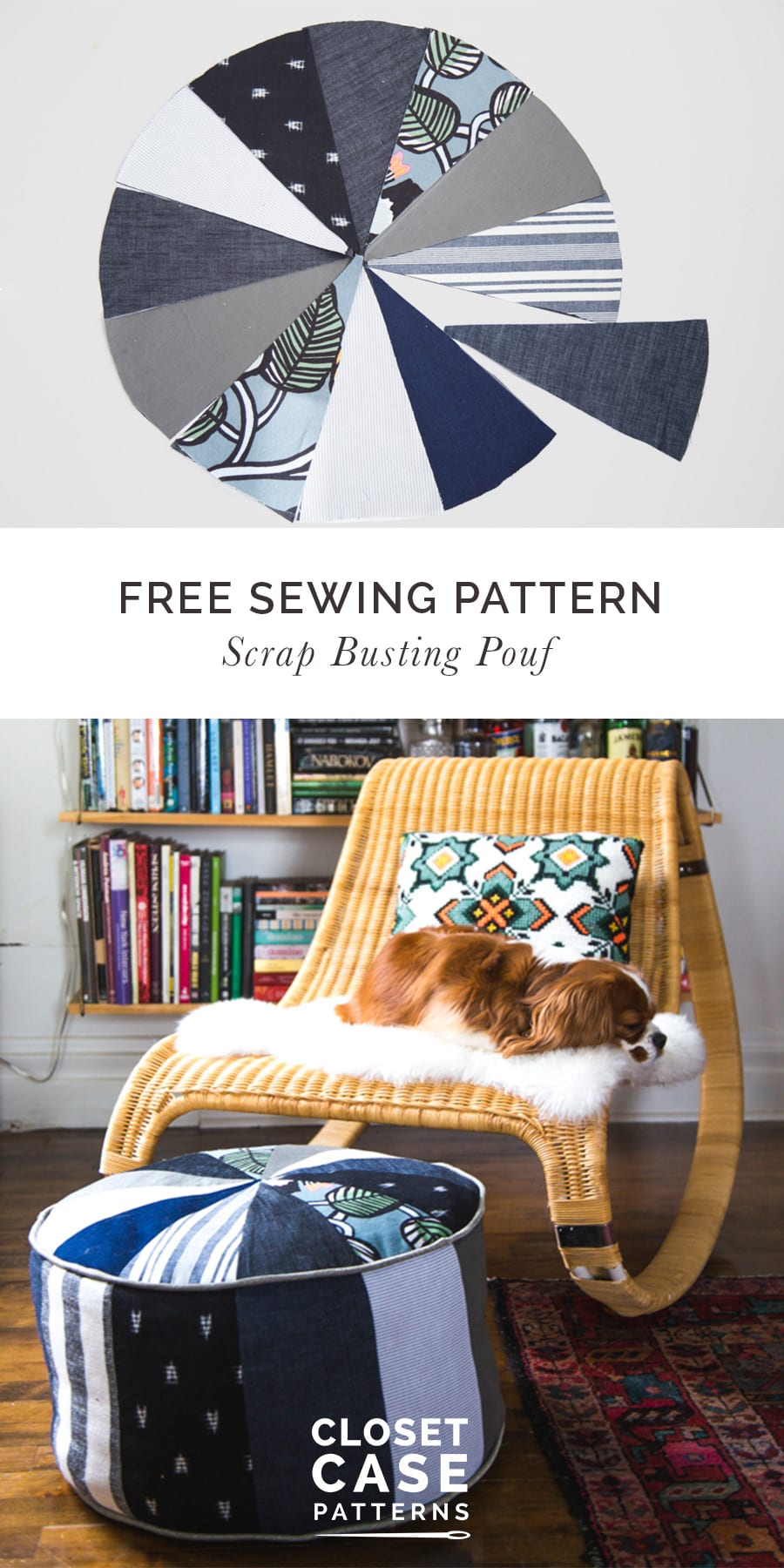 Free Sewing Pattern // Scrap Busting Pouf // Closet Case Patterns