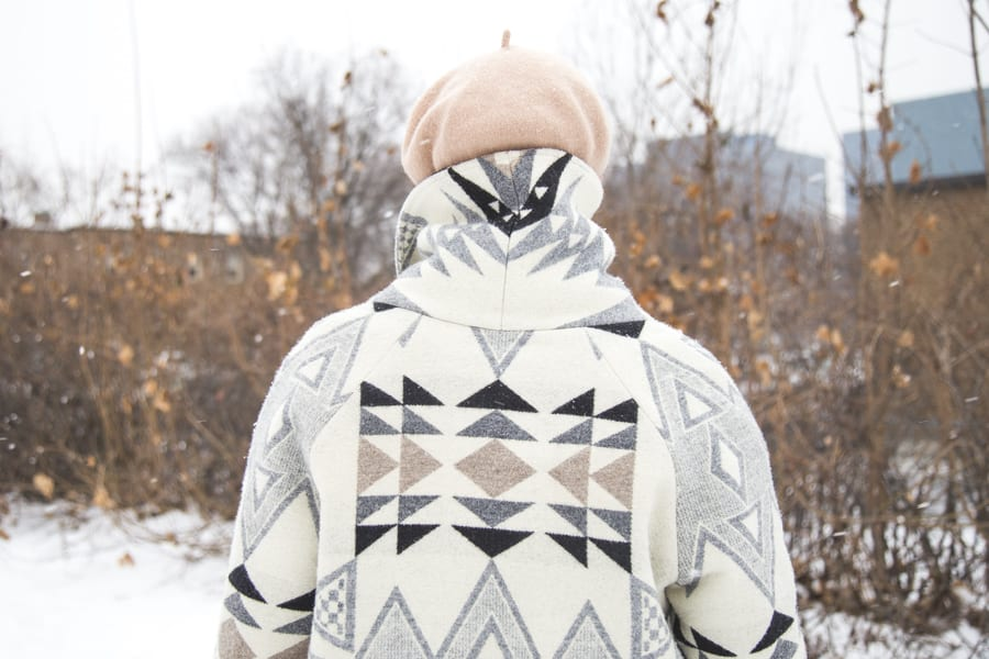 Oslo Coat by Tessuti Patterns in Pendleton Wool // handmade by Closet Case Patterns