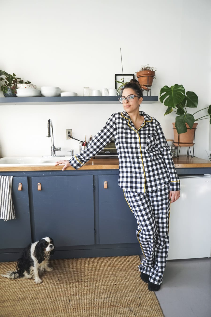 Carolyn Pajamas in Robert Kaufman Mammoth flannel // Handmade by Closet Case Patterns
