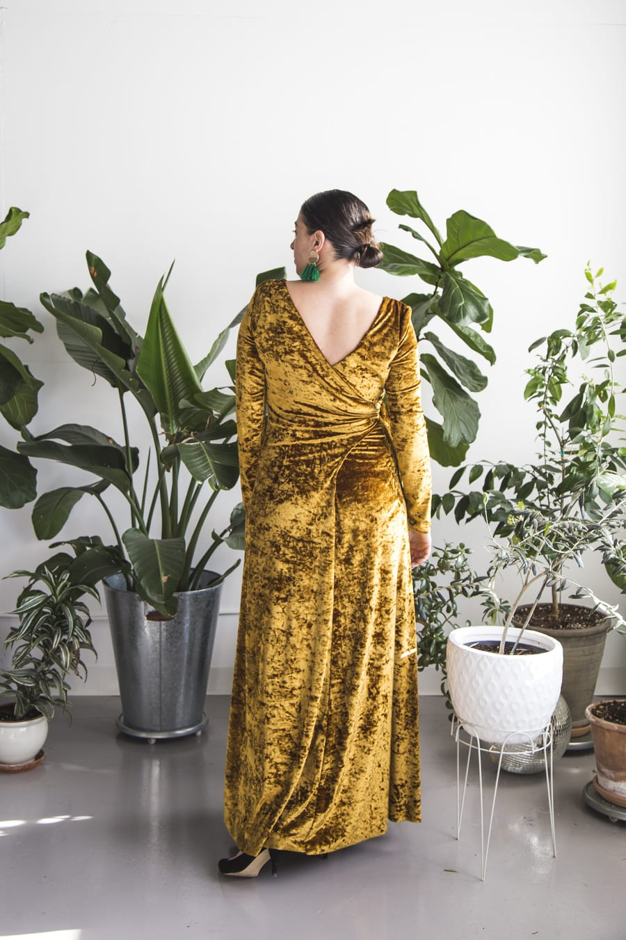 Crushed velvet maxi dress // vintage Butterick 5119 // Handmade by Closet Case Patterns