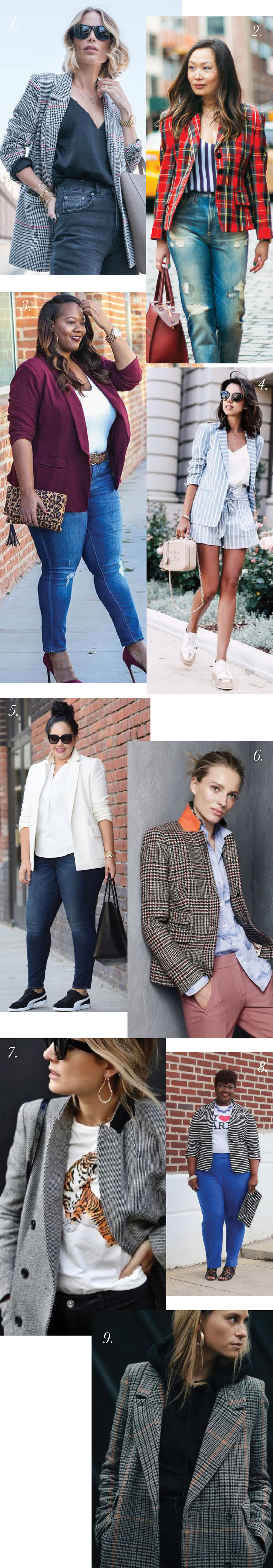 How to Style a Casual Blazer // Blazer outfits ideas for Jasika Blazer from Closet Case Patterns