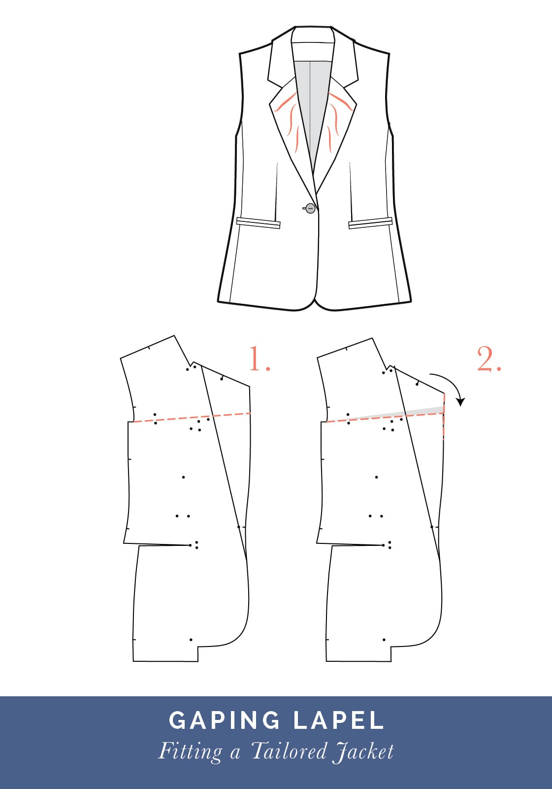 Gaping lapel // How to fit a Tailored jacket or Blazer // Fit adjustment issues and fixes