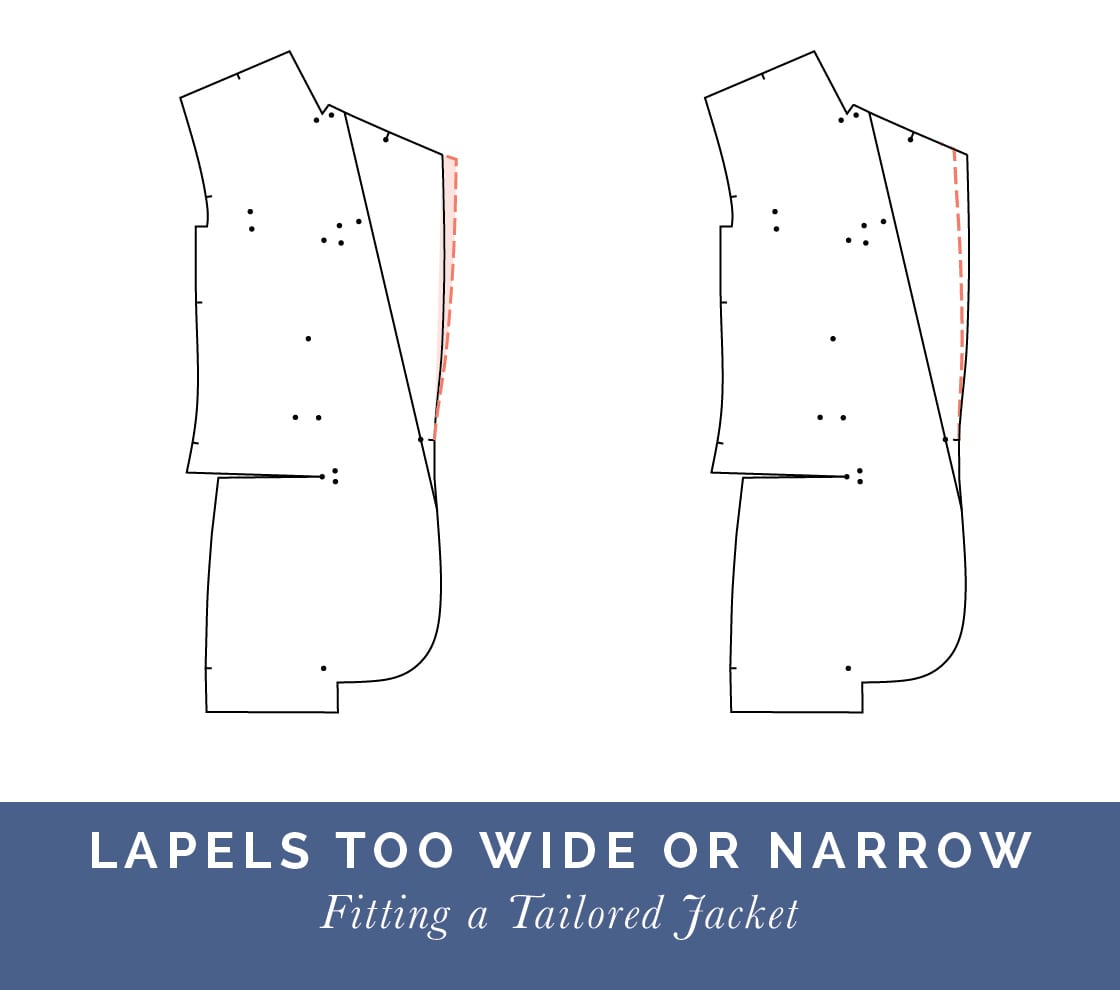 Lapels too wide or Loose // How to fit a Tailored jacket or Blazer // Fit adjustment issues and fixes