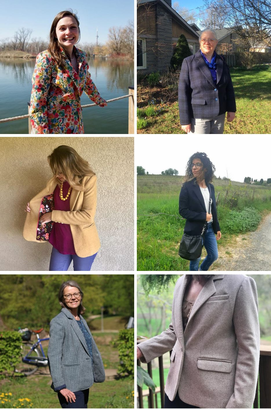 Round up of Blazers of Glory // Jasika Blazer // Closet Case Patterns