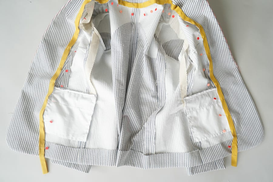 How to Add Piping to Jacket Lining // Closet Case Patterns
