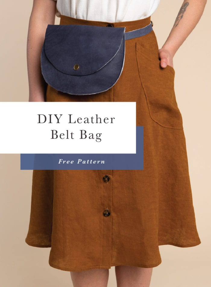 Free Pattern // DIY Leather Belt Bag // Closet Case Patterns
