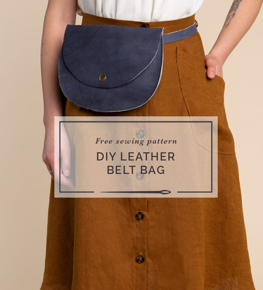 DIY Leather Belt Bag // Free sewing pattern from Closet Case Patterns