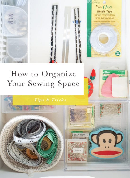 How to Organize your Sewing Space: KonMari Method // Closet Case Patterns