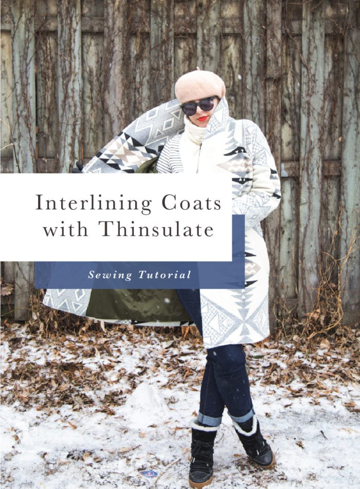 How to add warmth by lining coats with thinsulate lining // Closet Case Patterns