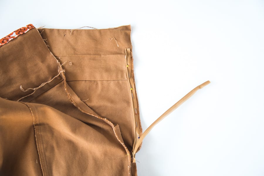 How to add an invisible zipper to the Pietra Pants // Closet Case Patterns