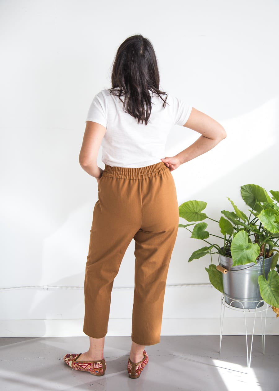 Pietra Pants in cotton canvas // Handmade by Closet Case Patterns