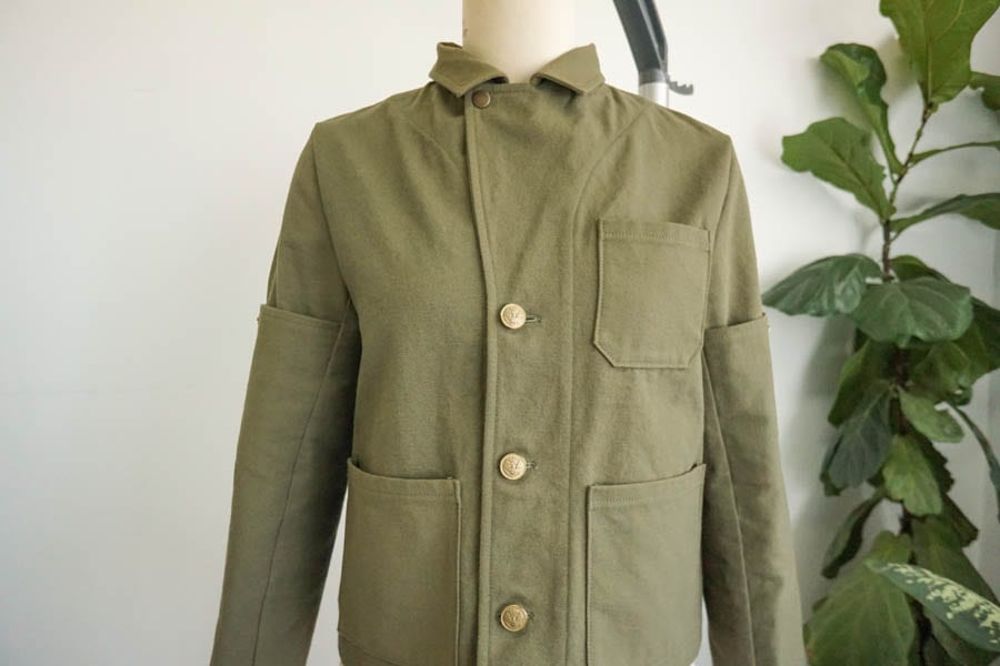 Sienna Maker Jacket // Cropped Jacket View C Buttons and Snaps // Closet Case Patterns