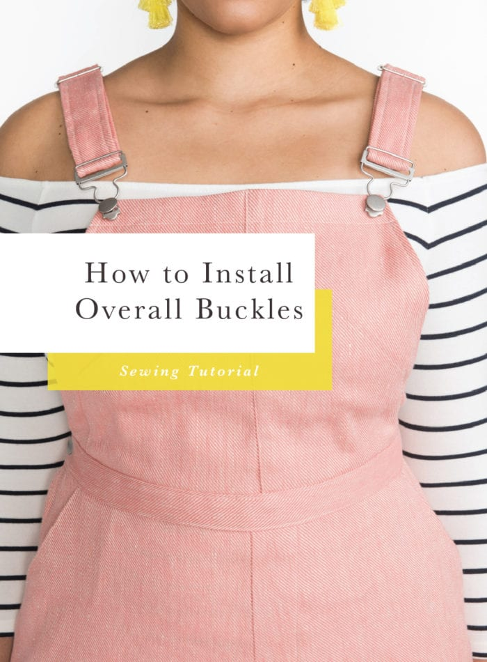 How to install overalls buckles & overalls hardware // Closet Case Patterns