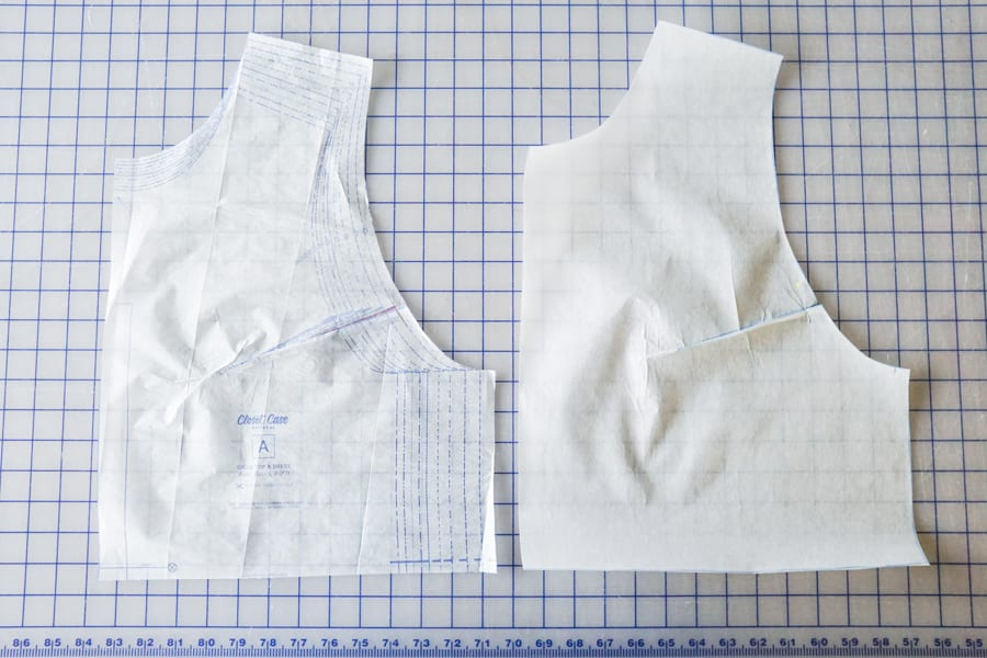 How to do a Small Bust Adjustment // Closet Case Patterns