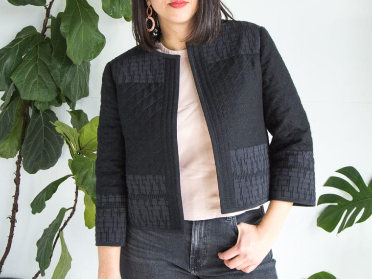 DIY quilted jacket // McCalls 7549 // Handmade by Closet Case Patterns