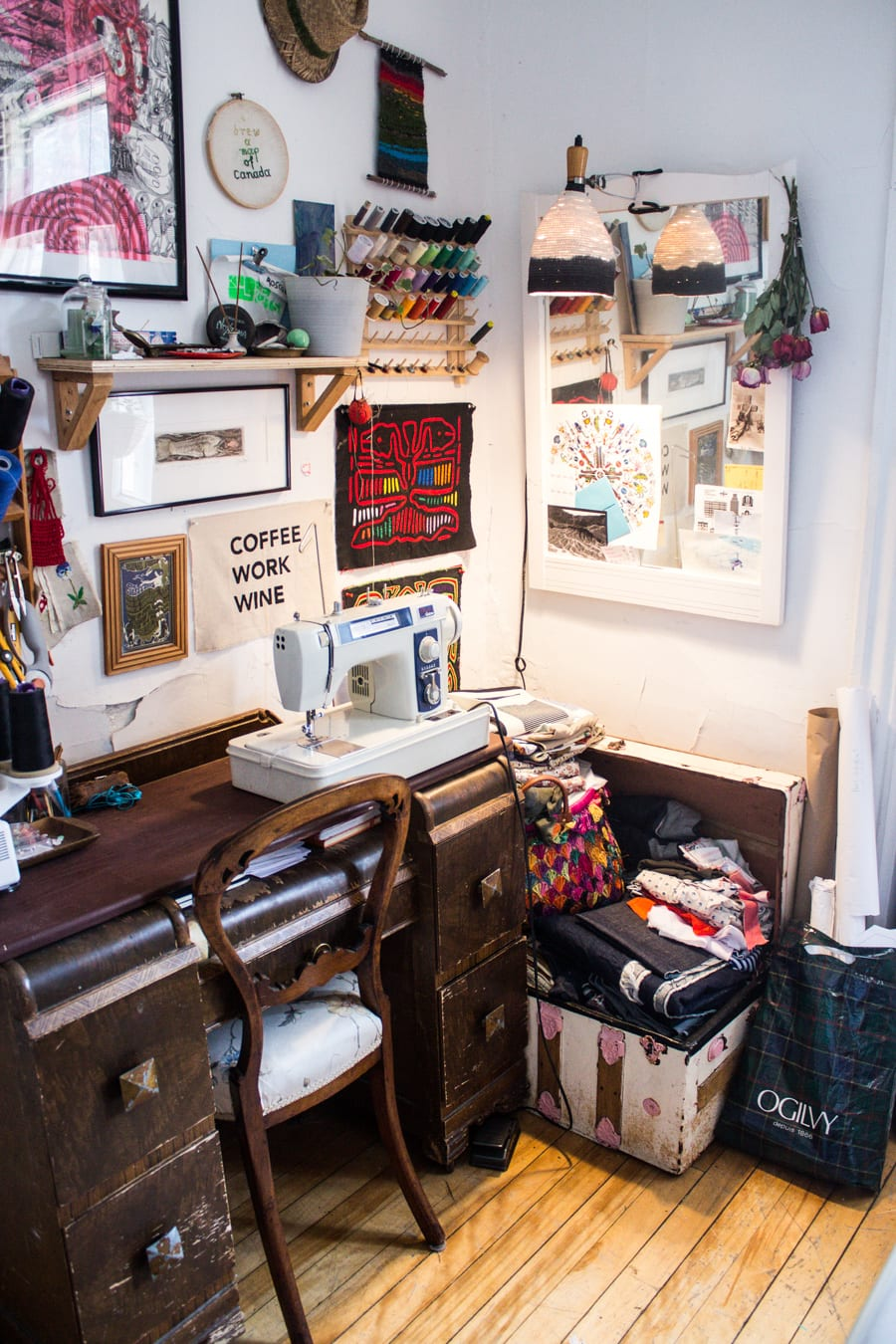 Tips for sewing in a small space // Closet Case Patterns