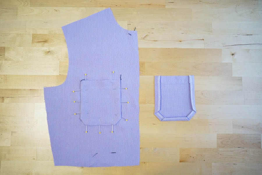Blanca Flight Suit Sewalong // Sewing front bodice with pockets // Closet Case Patterns