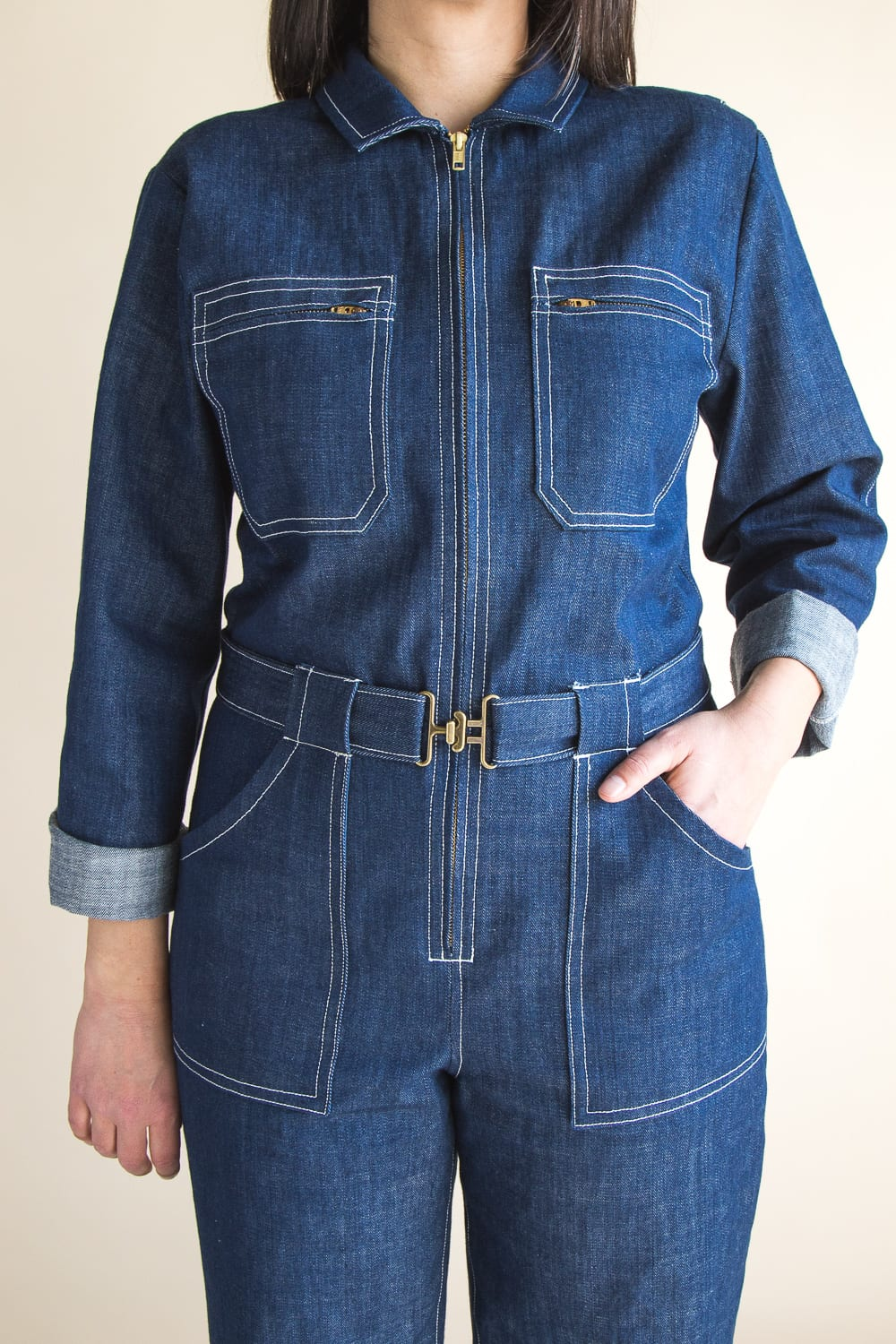Blanca Flight Suite Pattern // Boiler Suit sewing pattern // Available from Closet Case Patterns