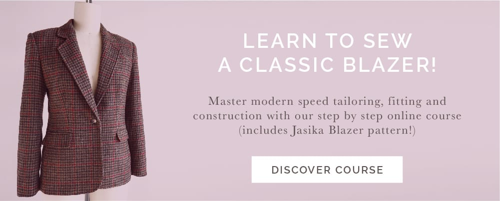 Learn how to tailor a blazer with our online sewing class // Closet Case Patterns